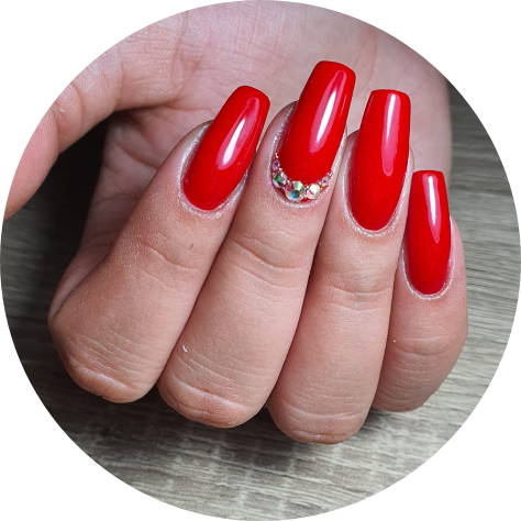 ongle vernis rouge